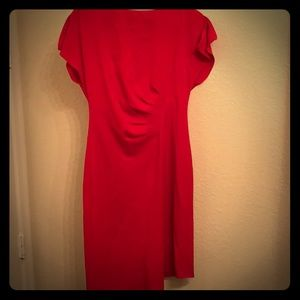 Tahari size 10 beautiful red dress